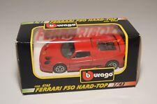 V 1:43 BBURAGO BURAGO 4162 FERRARI F50 HARD-TOP RED MINT BOXED