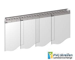 Breite 3,75m - Weich PVC Streifenvorhang Industrievorhang Lamellen 300mm x 3mm