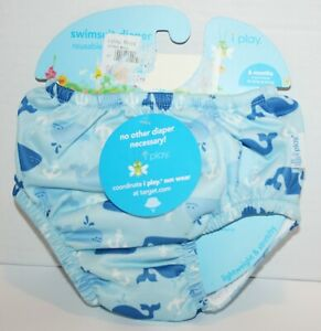 NWT iPlay Baby Swim Diaper Reusable & Absorbent Pull On - 6 Months 10-18lbs