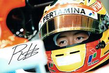 Rio HARYANTO Autograph SIGNED Indonesian Driver 12x8 Photo F1 AFTAL COA