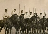 WW1 FRENCH LIGHT CAVALRY CORP. SQUADRON WAR HORSES RPPC PHOTO POSTCARD