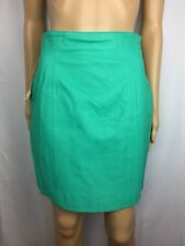 New Vintage Wilson Genuine Leather Blue & Mint Green Short Skirts Bundle Sz 10
