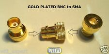 FULLY Gold Plated SMA Male Jack to BNC Female plug RF Adapter RF Connector USA