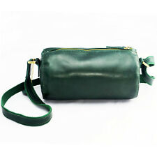 Genuine Leather Messenger Shoulder Bags Casual Cross body Barrel  for Men Women
