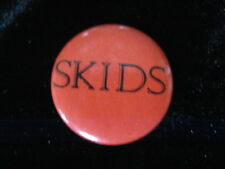 Skids-Orange-Punk-New Wave-Small-Button-80's Vintage-Rare