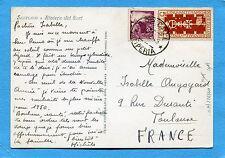 1949 BIENN.VENEZIA £.5 + DEM.£.20 ann.APRICALE, 31.12.49 x la FRANCIA (226440)