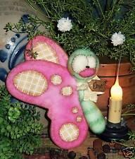 Primitive Raggedy Garden Butterfly Bug Doll Paper Pattern 454