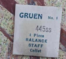 Nos Gruen vintage watch part #1 Gruen 445Ss watch movement balance staff
