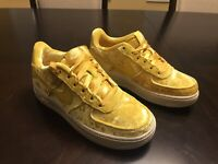 New Nike Air Force 1 LV8 Mineral Gold Sneaker Shoes Size US 6.5