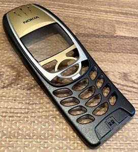 Original Genuine Nokia 6310i Front Cover Fascia - Grade A - Black & Gold