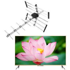 100 Mile HDTV 1080p Outdoor Amplified HD TV Antenna Digital UHF/VHF FM Radio OUY