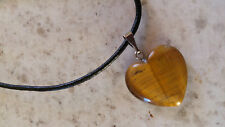 Tiger's Eye Quartz Heart Shaped Necklace