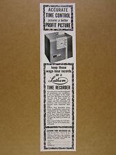1963 Lathem Time Recorder Punch Clock Model 8800 vintage print Ad