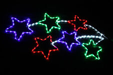 RED GREEN BLUE LED 115 X 57 Outdoor Christmas Garden Rope Light SHOOTING STARS