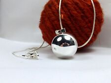 Harmony Chime Ball Necklace Angel ball Mexican Bola 925 Silver Chain 16in-50ins