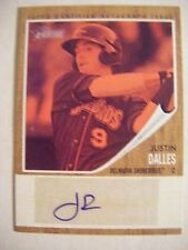 JUSTIN DALLES RED AUTO #/25 2011 Heritage Minors baseball card GIANTS signed USC