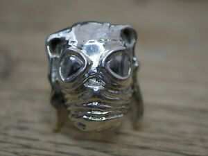 Mille Goggle jacket ring 925 Sterling silver ultras casuals biker frog Czy pig