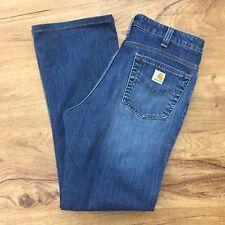 Carhartt Womens Work Jeans Stretch Denim Work Wear Farm Ranch Size 10 x 29