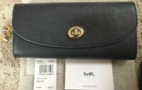 NWT AUTHENTIC Coach Slim Envelope Wallet w Charm F29407 Midnight Navy & Silver