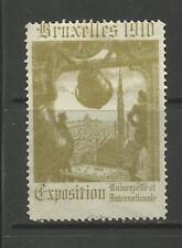 BELGIQUE/BRUXELLES 1910 exposition Affiche TIMBRE/Label #4