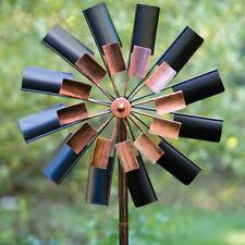 Windmill Sculpture Wind Spinner Outdoor Lawn Décor Durable Metal Yard Art