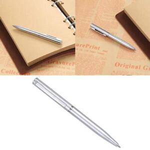 Mini Stainless Steel Ball-point Pen Rotating pen Short Spin Teens Supplies