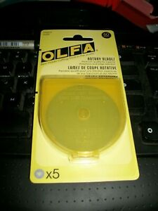 Genuine OLFA 60mm Rotary Cutter Blades 5 Pack New / Fast & Free Post Options