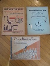 Set Of 3 Vintage Military Music Books Sheet Music Willis Music Company Army Navy