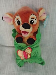 """Disney Parks Disney's Babies Bambi Plush Baby Doll and Blanket - Small - 10"""""""