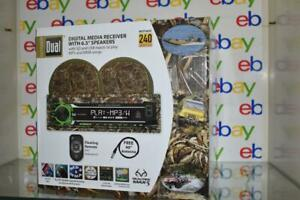 """Dual Realtree 240W Marine Mechless Receiver with Two 6.5"""" Dual Cone Speakers NIB"""