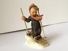 Vintage Skier Goebel Hummel Figurine #59 Tmk7 Boy Skiing