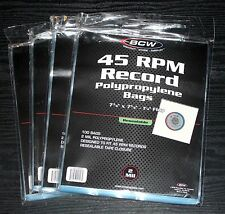"400 ct. 45 RPM 7"" Record RESEALABLE OUTER SLEEVES 2 Mil Clear Poly High Quality"