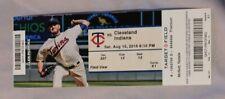 Minnesota Twins Vs Cleveland Indians 8/15/15 Ticket Stub