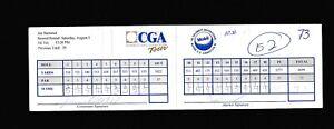 Jan Stenerud & Bill Laimbeer signed CGA Scorecard 95 Mobil Celebrity CAS COA