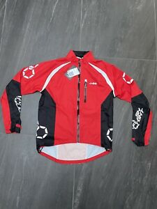 DHB Flashlight Waterproof Jacket Red/Black in Large BRAND NEW