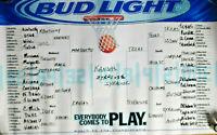 """2003 NCAA Final Four Basketball Budweiser Beer Schedule Poster 26"""" x 36"""""""