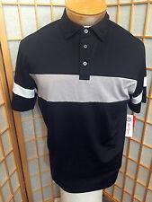 Ben Hogan Black Polo Rugby Short Sleeve  3 Button Shirt Casual Shirt Mens Size M