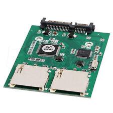 2 porta a doppia SD SDHC MMC RAID a SATA Adattatore Convertitore Video supporta tutti i SD CARD