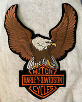 "Vintage Large Harley Davidson Eagle Patch 10"" X 8"""