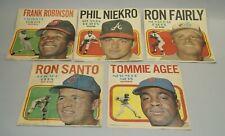 ORIGINAL 1970 TOPPS BASEBALL POSTERS GROUP LOT OF FIVE NIKRO ROBINSON SANTO ETC.