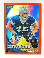 2010 Topps Chrome Sean Lee ORANGE Refractor RC #C38, Cowboys Rookie!