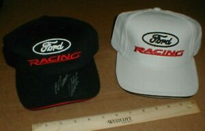 2 new Ford Racing hats promo Winners Circle Matt Kenseth one signed made in USA
