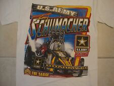 Tony Schumacher Army Strong U.S. Army Racing Autographed White T Shirt S