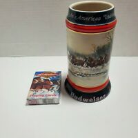 Budweiser Holiday Stein Mug Ceramarte 1990 and Trading Card Lot New in Packaging
