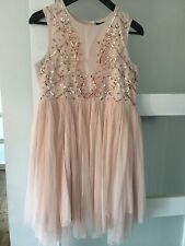 Girls Wedding Bridesmaid Party Dress Age 13-14Years Rose Gold