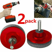 2pcs Universal Lawn Mower Faster Blade Sharpener Grinding Power Drill Garden Kit