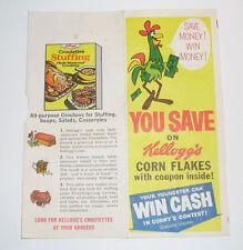 Vintage Kelloggs Corn Flakes Premium & Contest Coupon