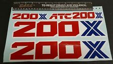 1986 86 HONDA ATC 200X  DECALS GRAPHICS STICKER EMBLEM FITS ALL YEARS  FENDERS