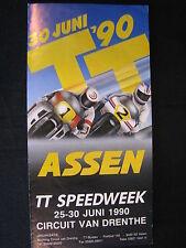 Flyer TT Assen, zaterdag 30  juni 1990 Circuit van Drenthe (TTC)