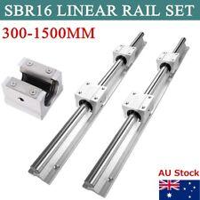 SBR16 Linear Rail Guide 300-1500mm Slide Shaft Rod Set 4X SBR16UU Bearing Block